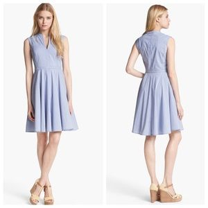 Tory Burch 'Talley' Cotton Blend Fit & Flare Dress